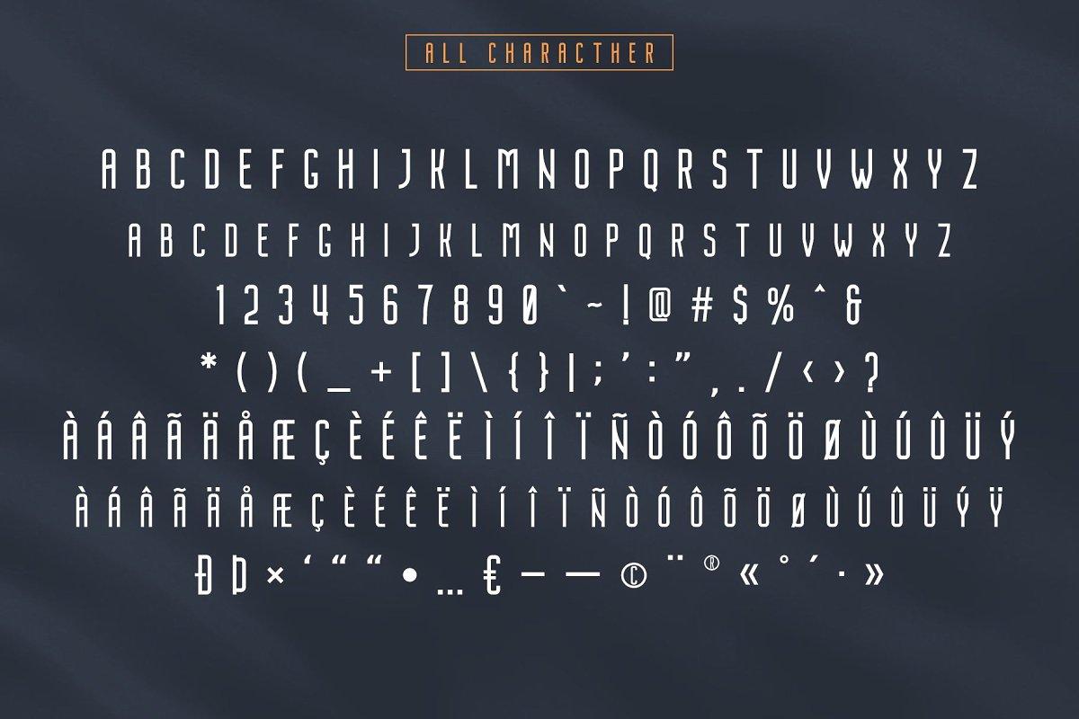 Nordin - Condensed Sans Serif Font - 06 1 1 -