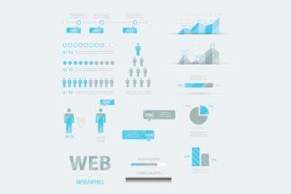 All Freebies - infographic business set bluegrey cm -