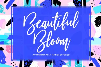 Beautiful Bloom Typeface - 01 beautiful bloom preview image normal 4 -