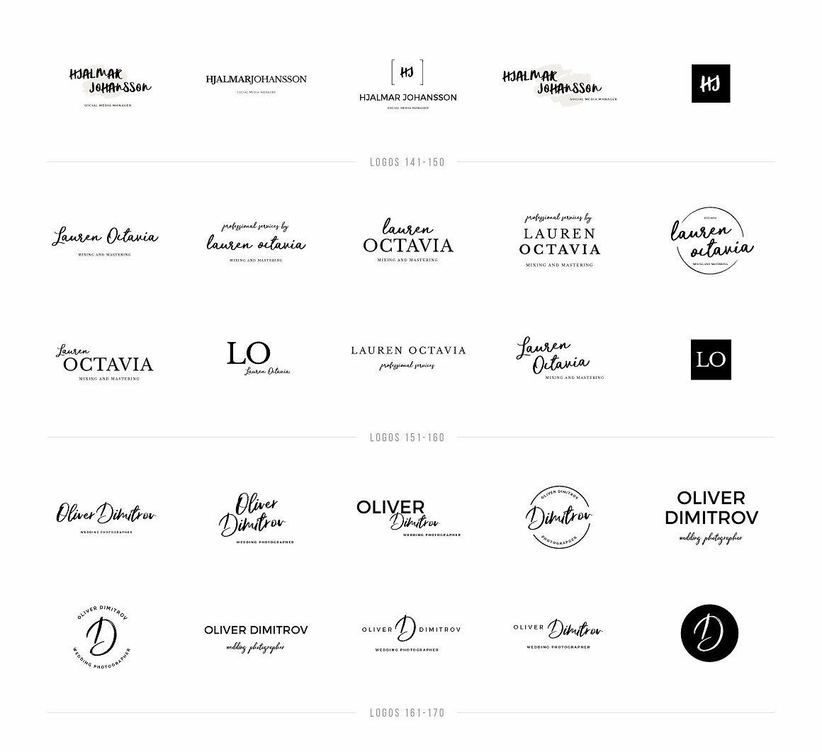 Typographer's Dream Box + 200 Logos - logos 101 200 2 scaled -