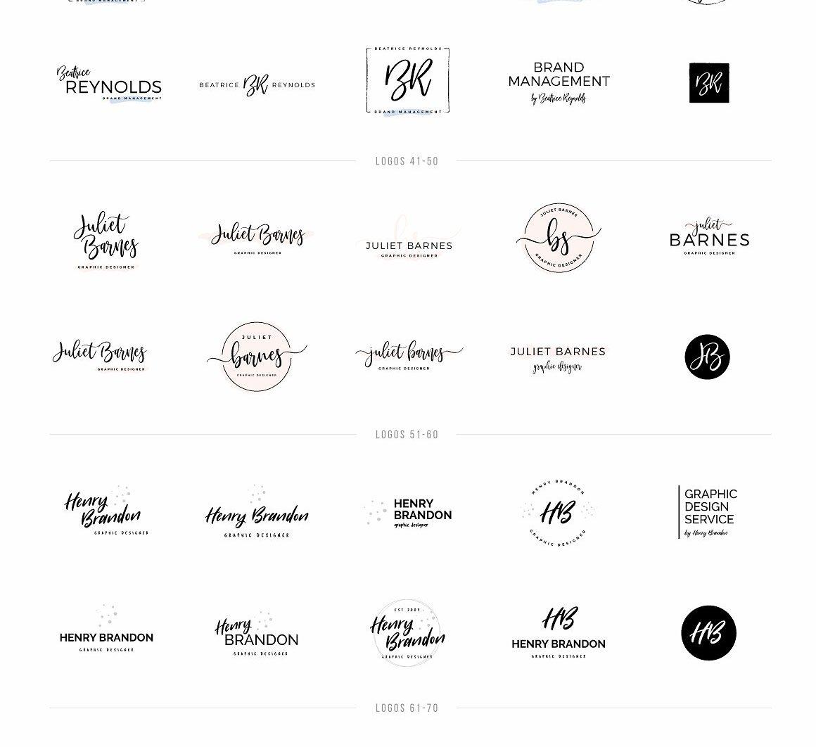 Typographer's Dream Box + 200 Logos - logos 1 100 2 scaled -