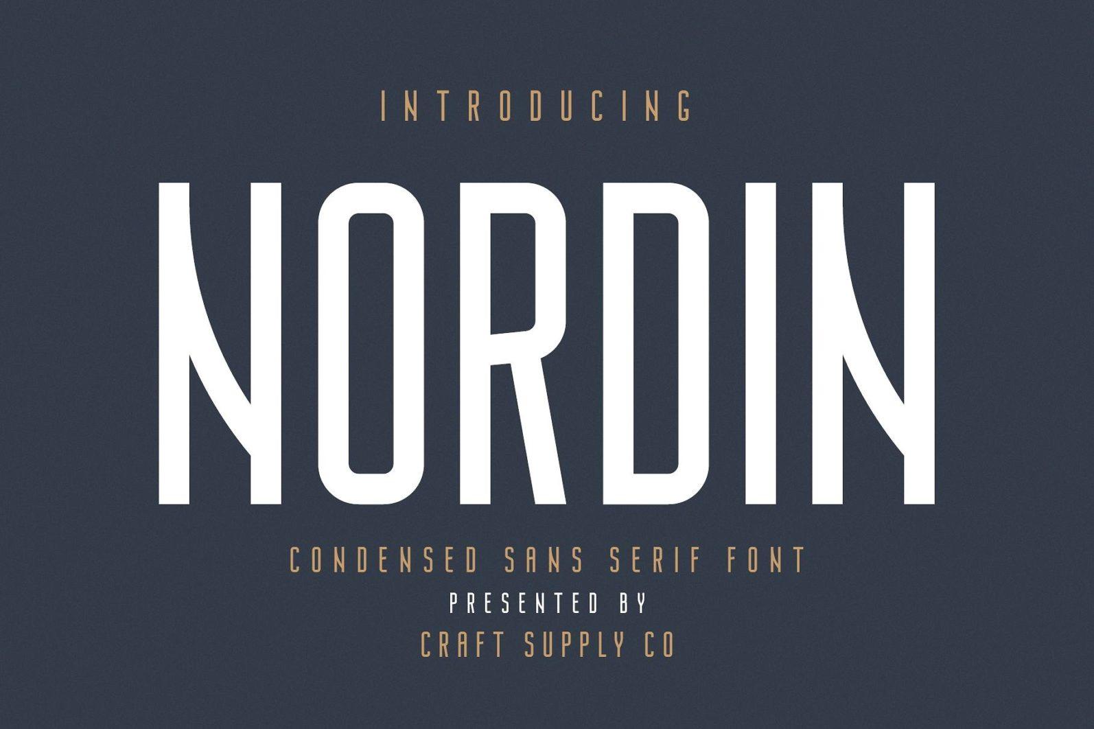 Nordin - Condensed Sans Serif Font - 01 4 -