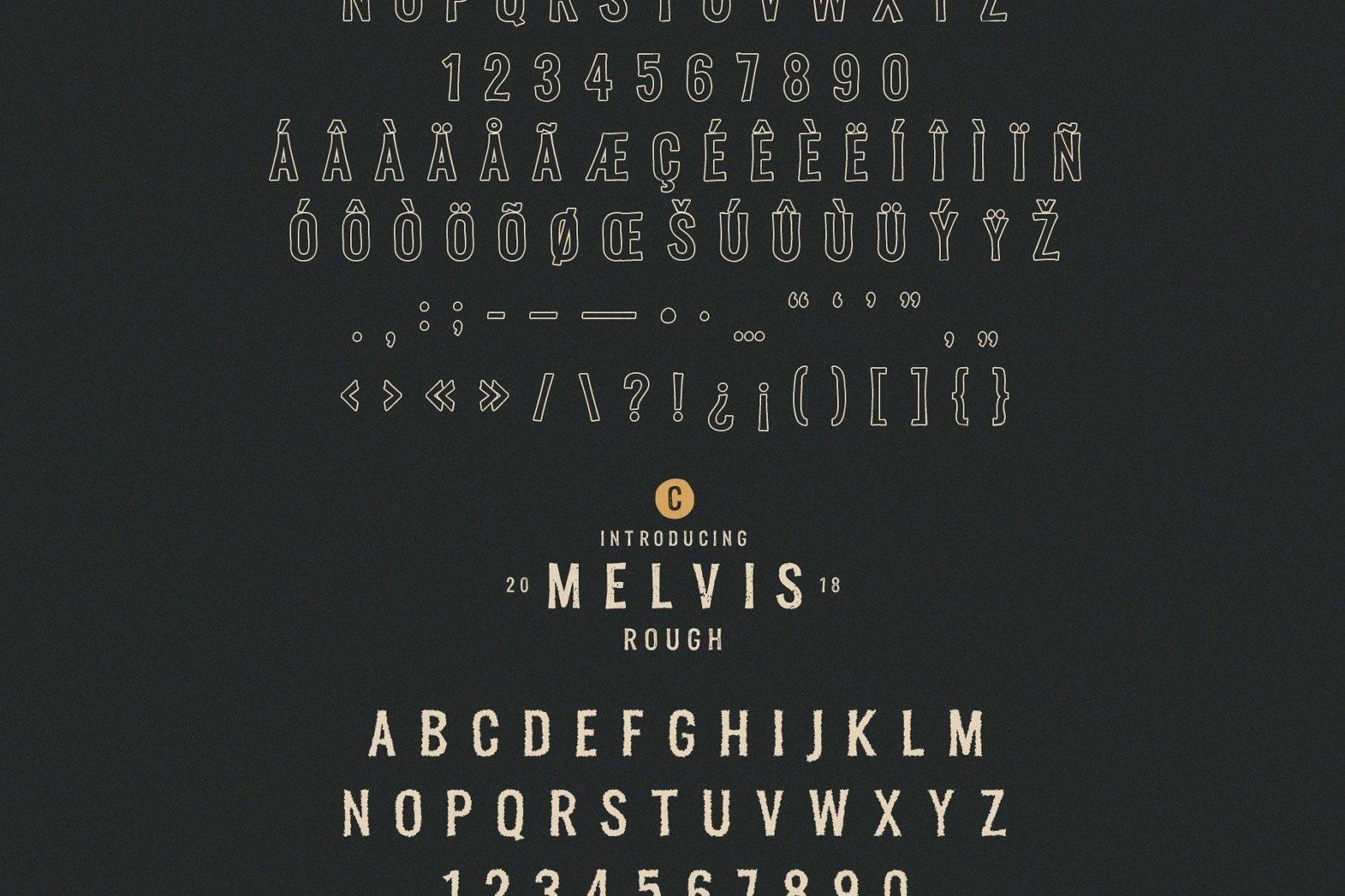 Melvis - Vintage Font Family+Extras - artboard 9 scaled -