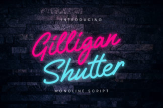 free font - Gilligan Shutter Monoline