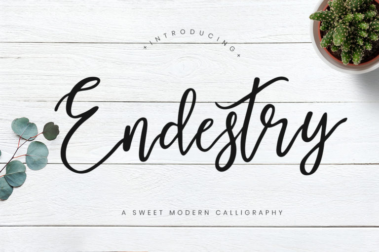 free font - Endestry Modern Calligraphy