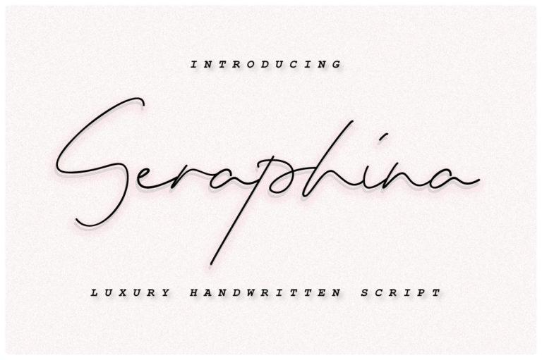 Seraphina Script Font - Seraphina Image Edit -