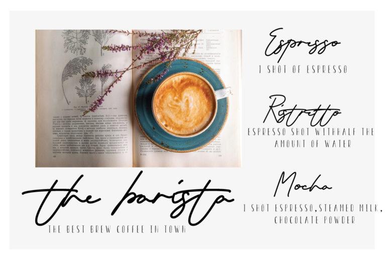 Seraphina Script Font - COFFEE -