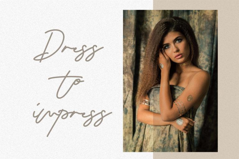 Seraphina Script Font - dress -