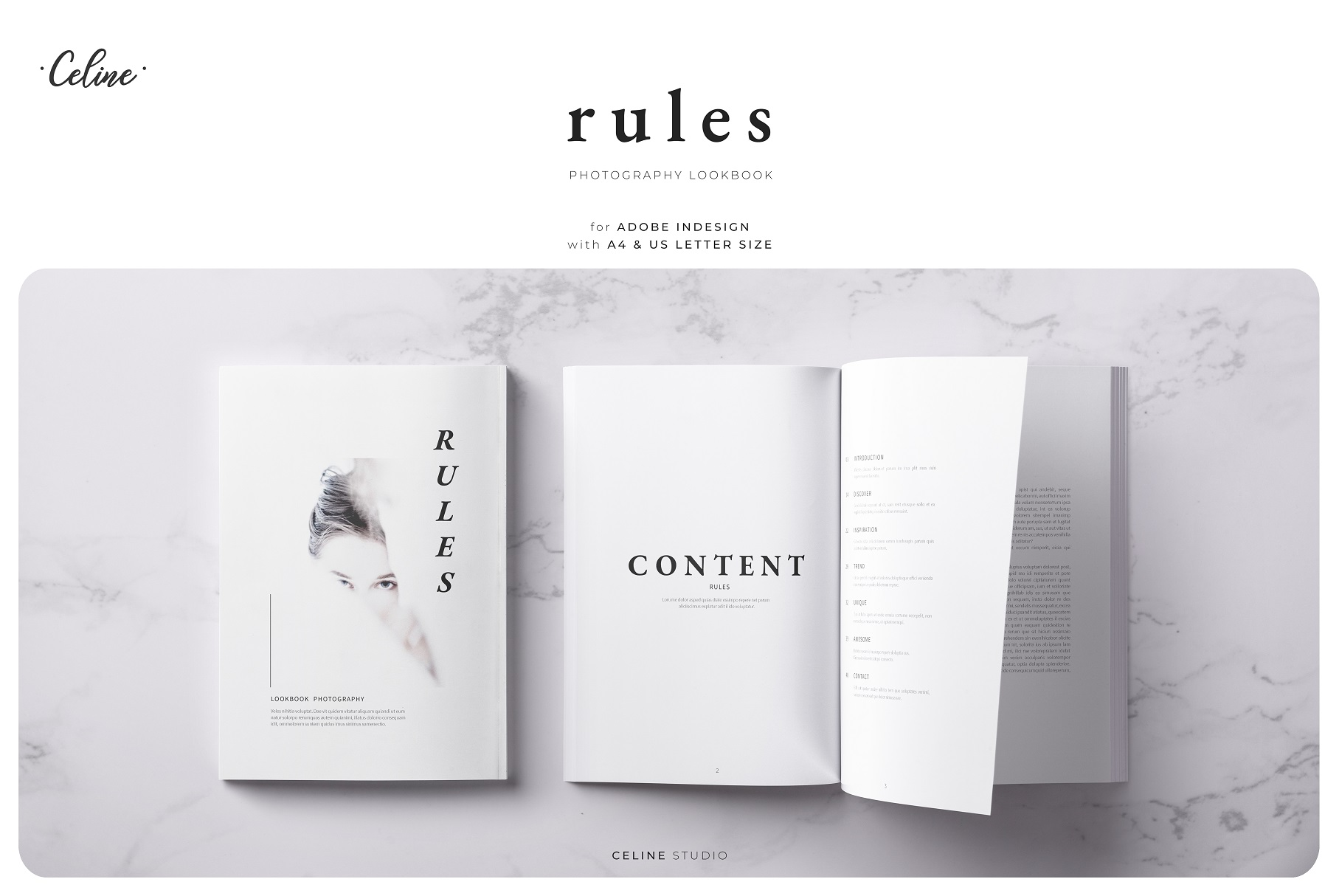 RULES Photography Lookbook Template