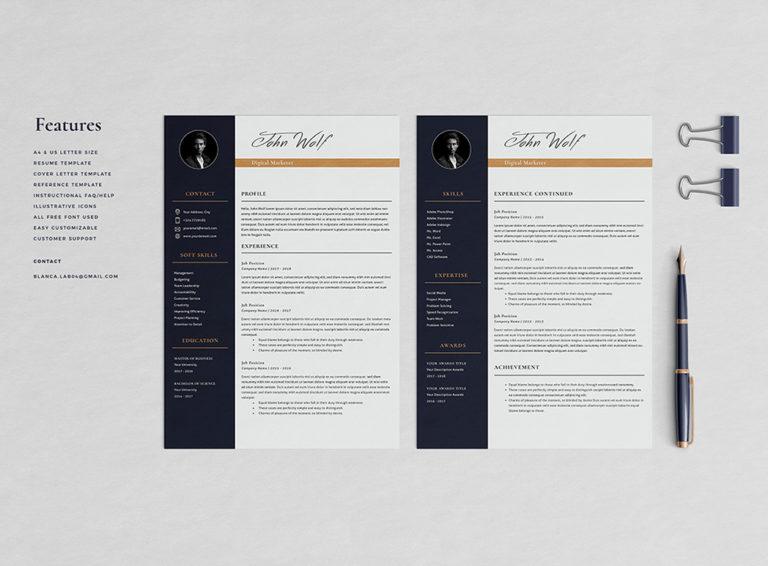 John Taslim - Resume/CV Template - Preview Page 02 -