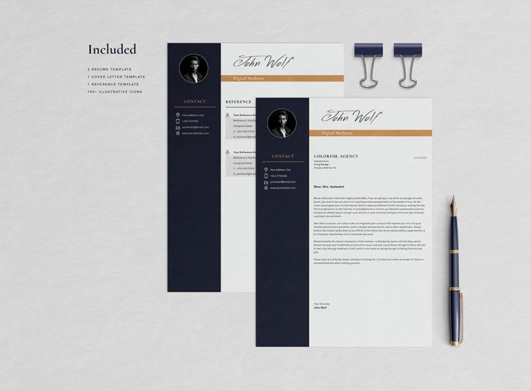 John Taslim - Resume/CV Template - Preview Page 03 -
