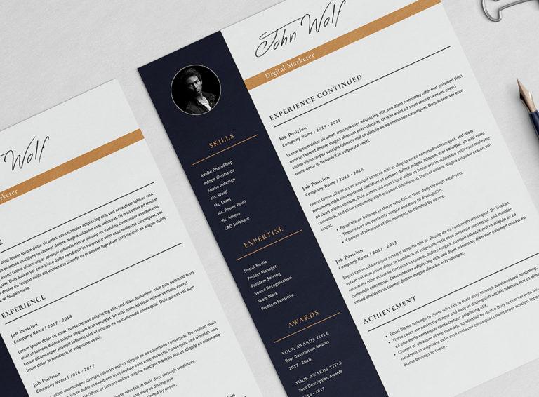 John Taslim - Resume/CV Template - Preview Page 04 -