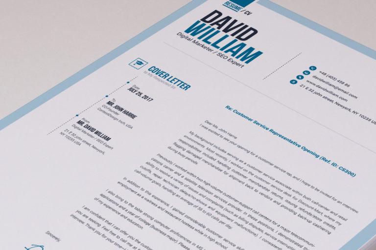 Resume Template - 04 Letterhead Design -