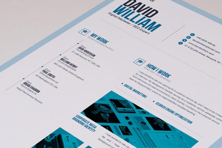 Resume Template - 05 Portfolio -