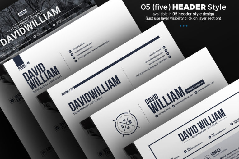 Resume Template - 06 Resume different header style -