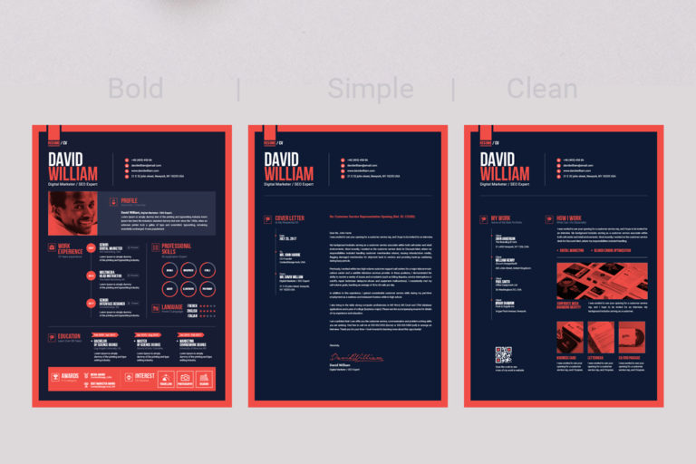 Resume Template - 12 Dark Version Resume -