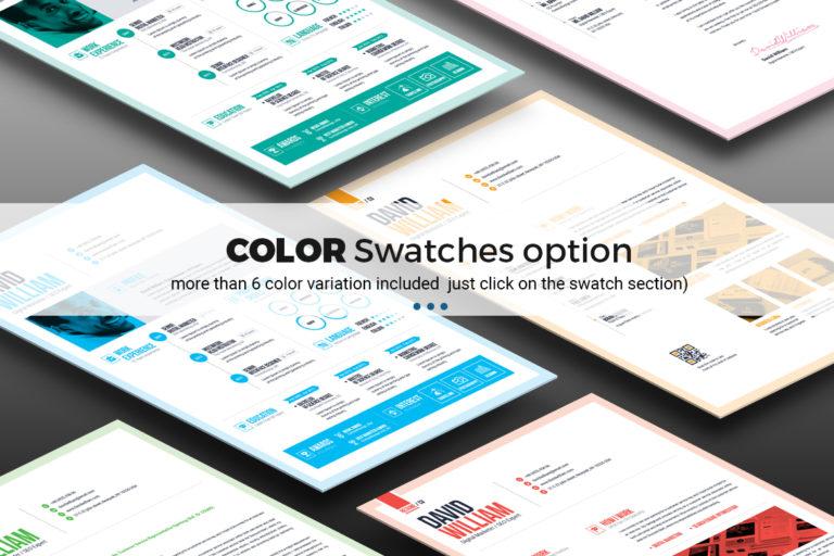 Resume Template - 15 Resume color variation -