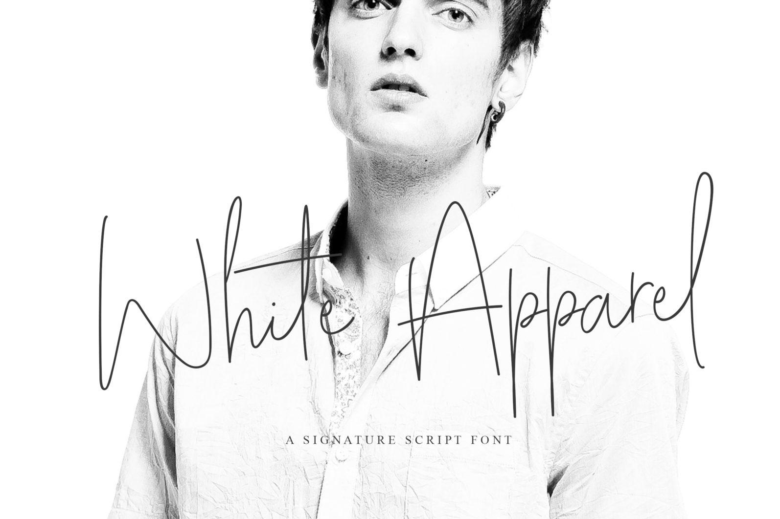 White Apparel | Script Font - White Apparel 01 -