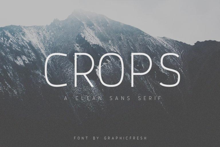 Crops – A Clean Sans Serif - Crops 01 -