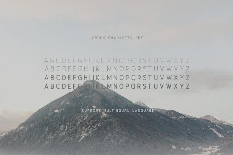 Crops – A Clean Sans Serif - Crops 03 -