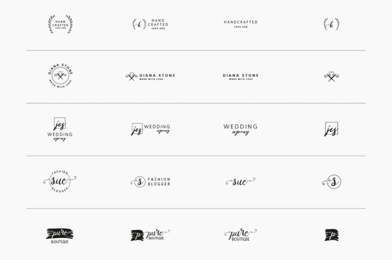 30 Premade Logos – Feminine Edition - Unbenannt 10 a -