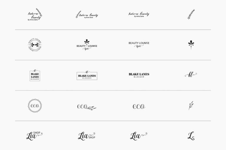 30 Premade Logos – Feminine Edition - Unbenannt 10 c -
