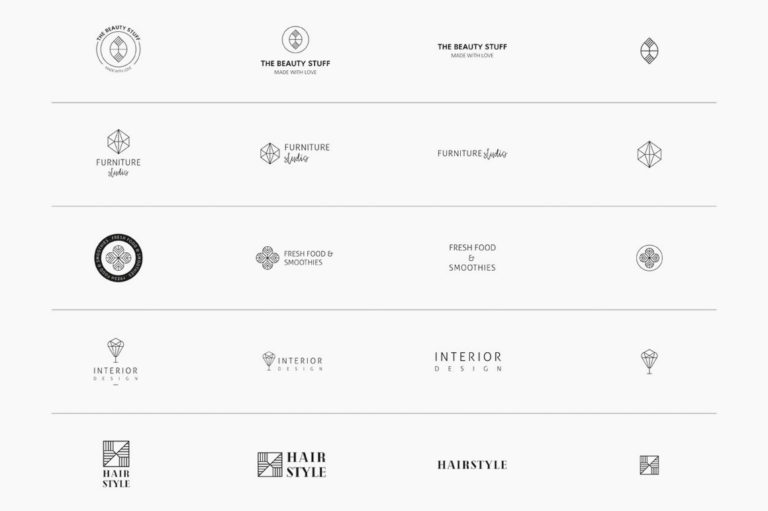 30 Premade Logos – Geometric Edition - Unbenannt 2 a1 -
