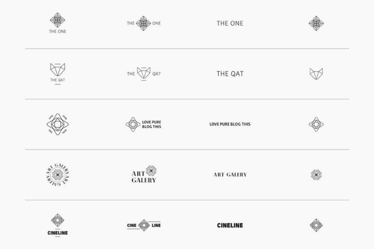30 Premade Logos – Geometric Edition - Unbenannt 2 c1 -