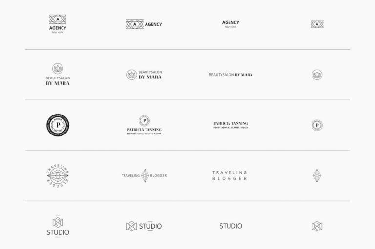30 Premade Logos – Geometric Edition - Unbenannt 2 f1 -