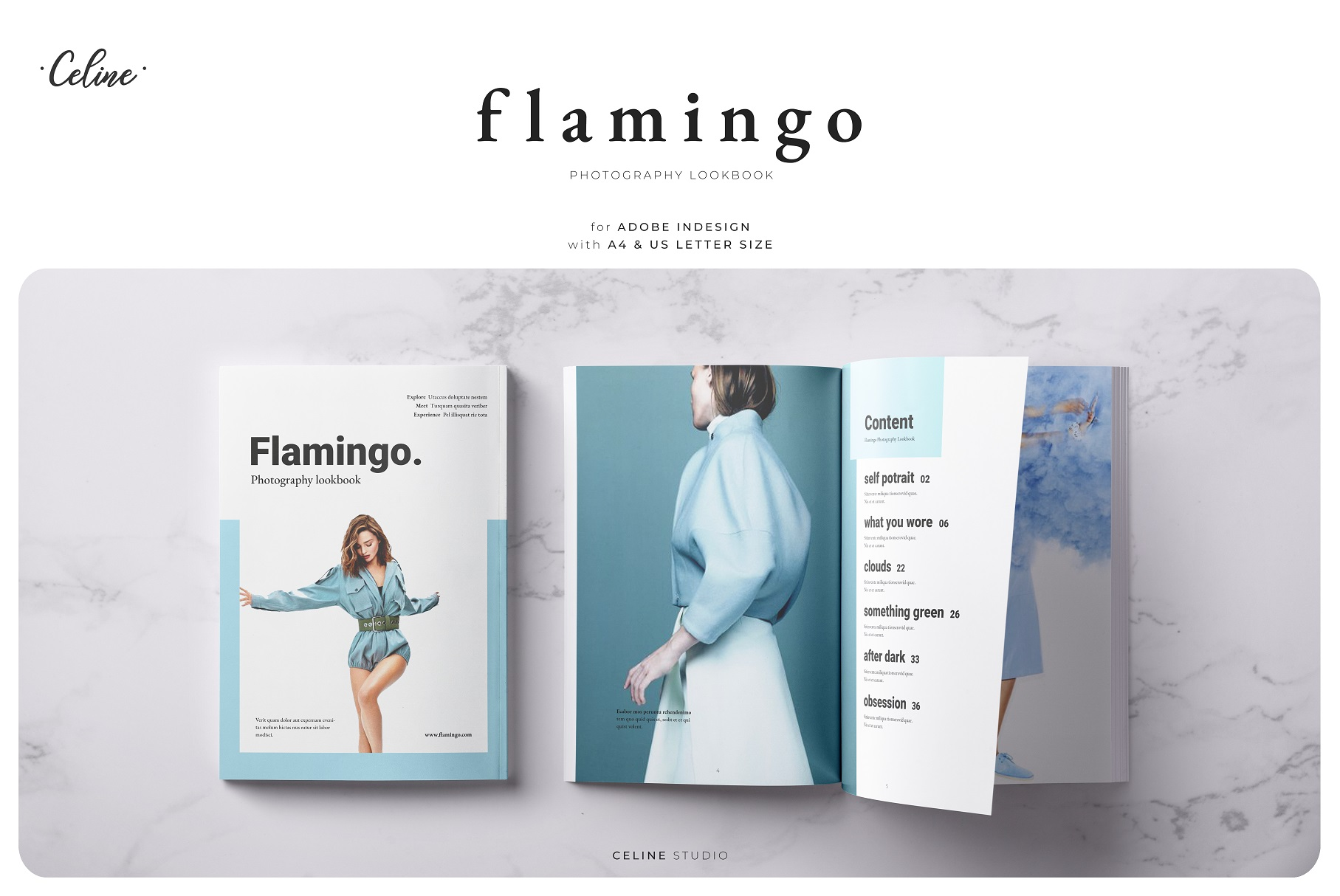 FLAMINGO Lookbook Template