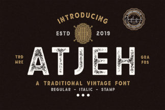 Font Deals - Powerful Script & Calligraphy Fonts for just $1 - Atjeh 01 -