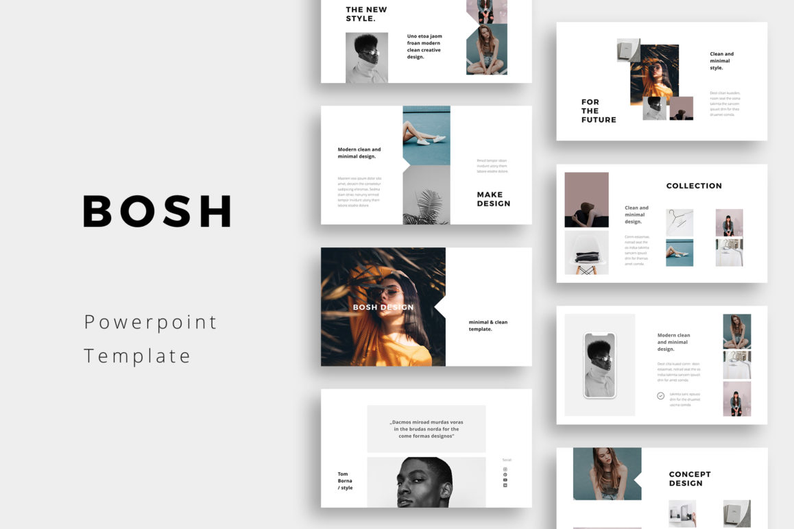 BOSH - Powerpoint Simple & Clean Template Presentation | Crella