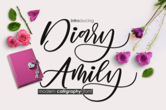 Font Deals - Powerful Script & Calligraphy Fonts for just $1 - diary amily 1 oke -