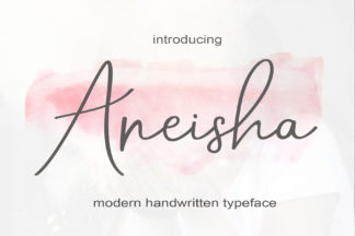 Font Deals - Powerful Script & Calligraphy Fonts for just $1 - Aneisha 1 -