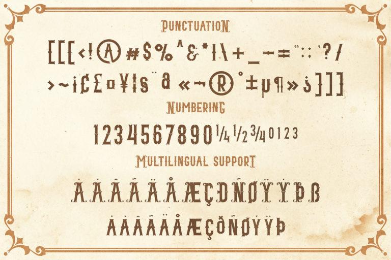 Blacktail - Vintage Font Family - 8Blacktail font -