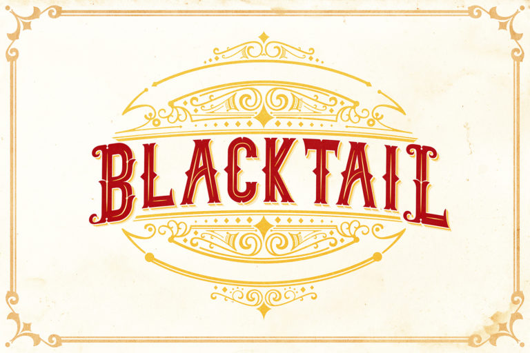 Blacktail - Vintage Font Family - 7Blacktail font -