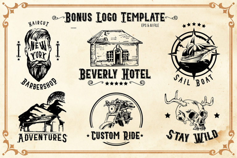 Blacktail - Vintage Font Family - 2Blacktail font -