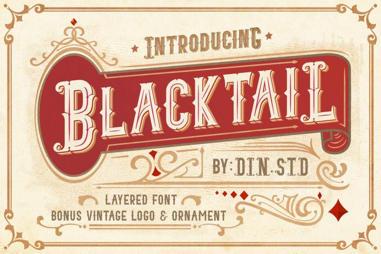 Blacktail - Vintage Font Family - 1Blacktail font -