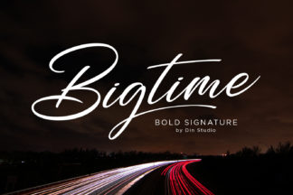 Font Deals - Powerful Script & Calligraphy Fonts for just $1 - Bigtime font1 -