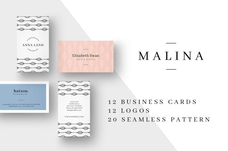 MALINA Business Cards + Logos + Seamless Patterns - Unbenannt 14 -