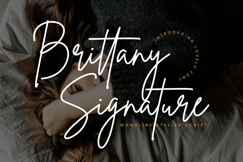 free font - Brittany Signature Script