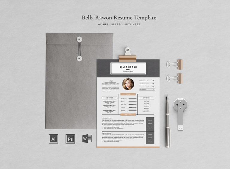 Bella Rawon - Resume/CV Template - Preview01 -
