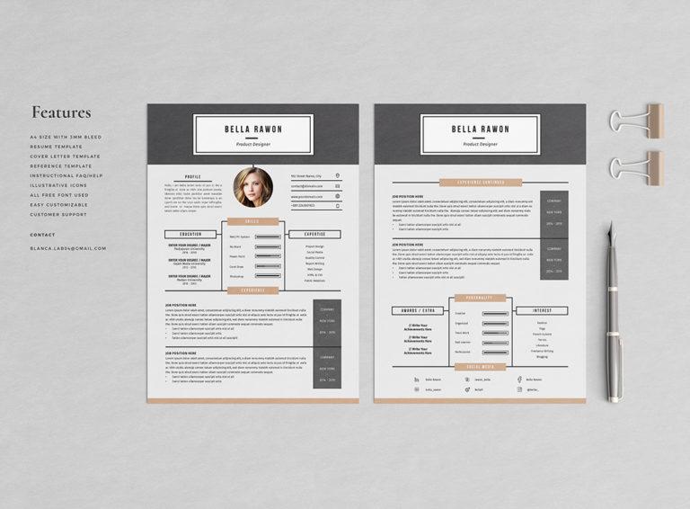 Bella Rawon - Resume/CV Template - Preview02 -