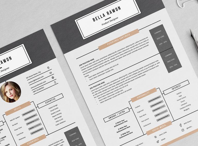 Bella Rawon - Resume/CV Template - Preview04 -