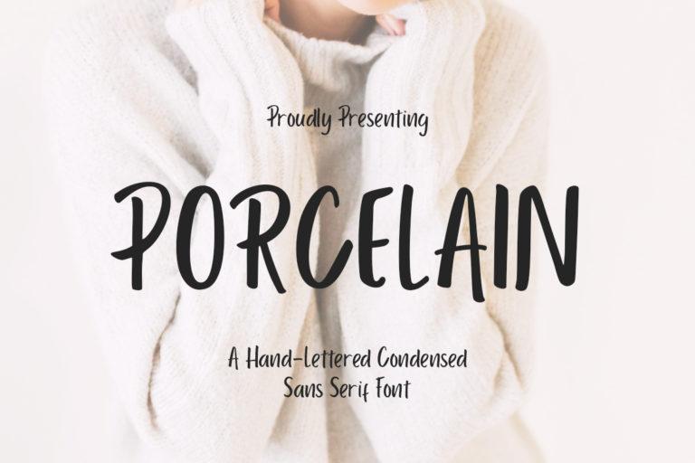 free font - Porcelain