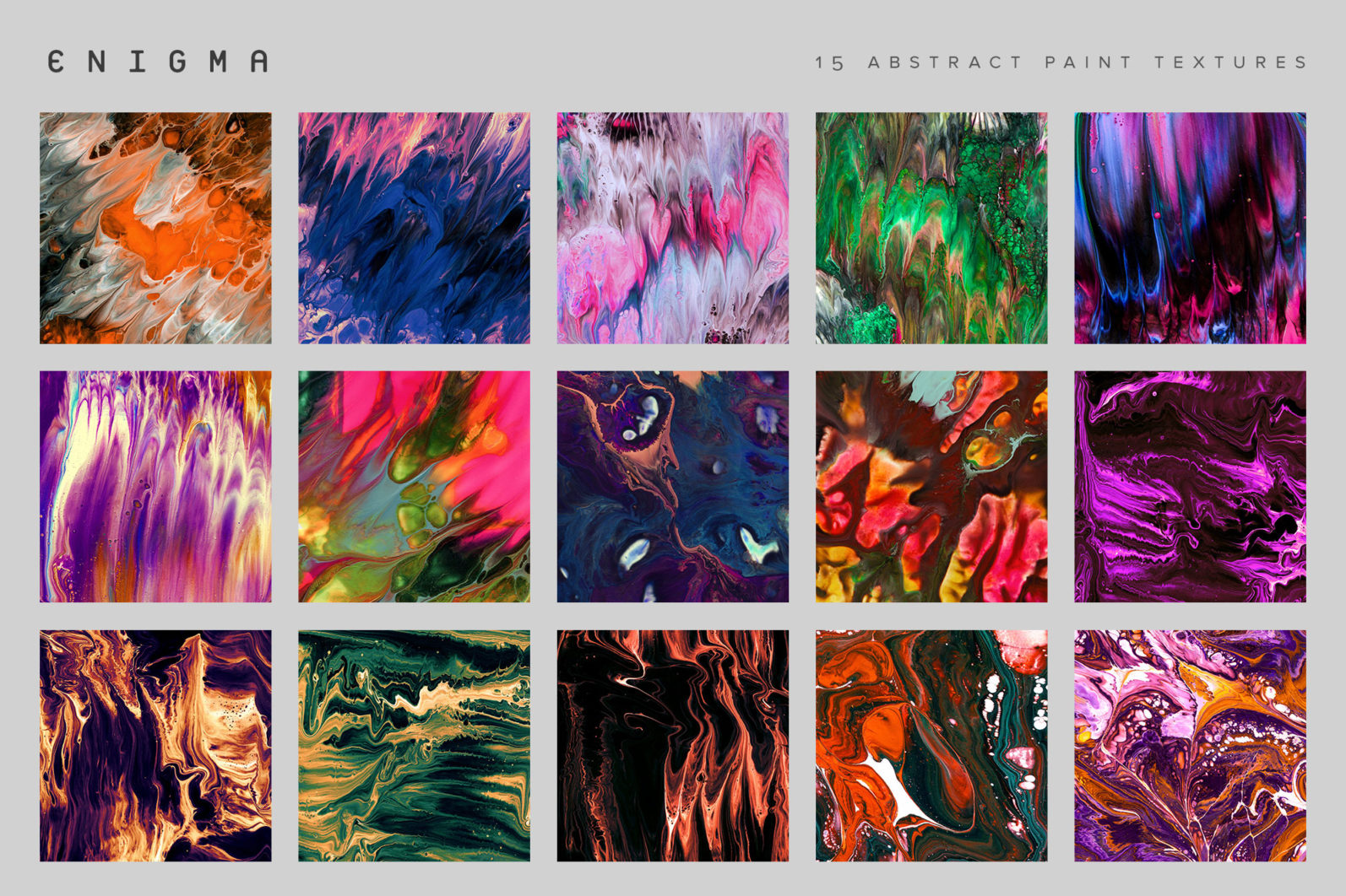Enigma: 15 Abstract Paint Textures - 10 Enigma Product imagery Indiv -