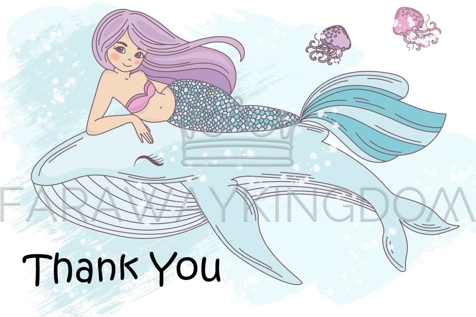 MERMAID IN LOVE Underwater Tropical Travel Cruise Vacation Summer Vector Illustration - 1310 scaled -