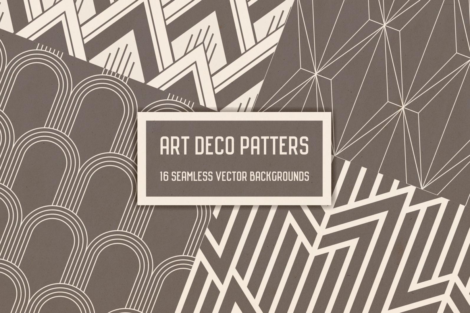 Geometric Art Deco Seamless Patterns - art deco 1 -