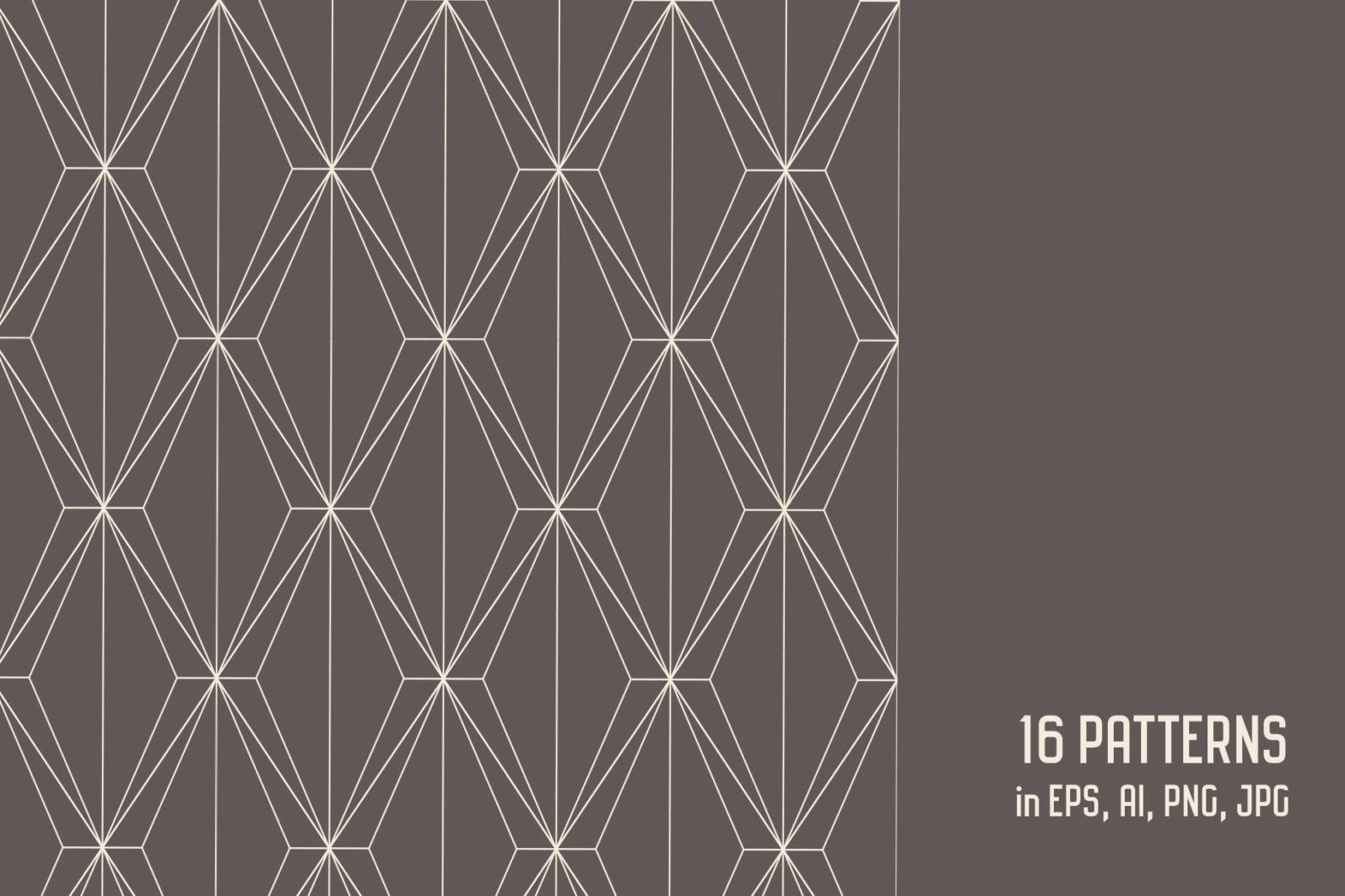 Geometric Art Deco Seamless Patterns - art deco 2 1 -