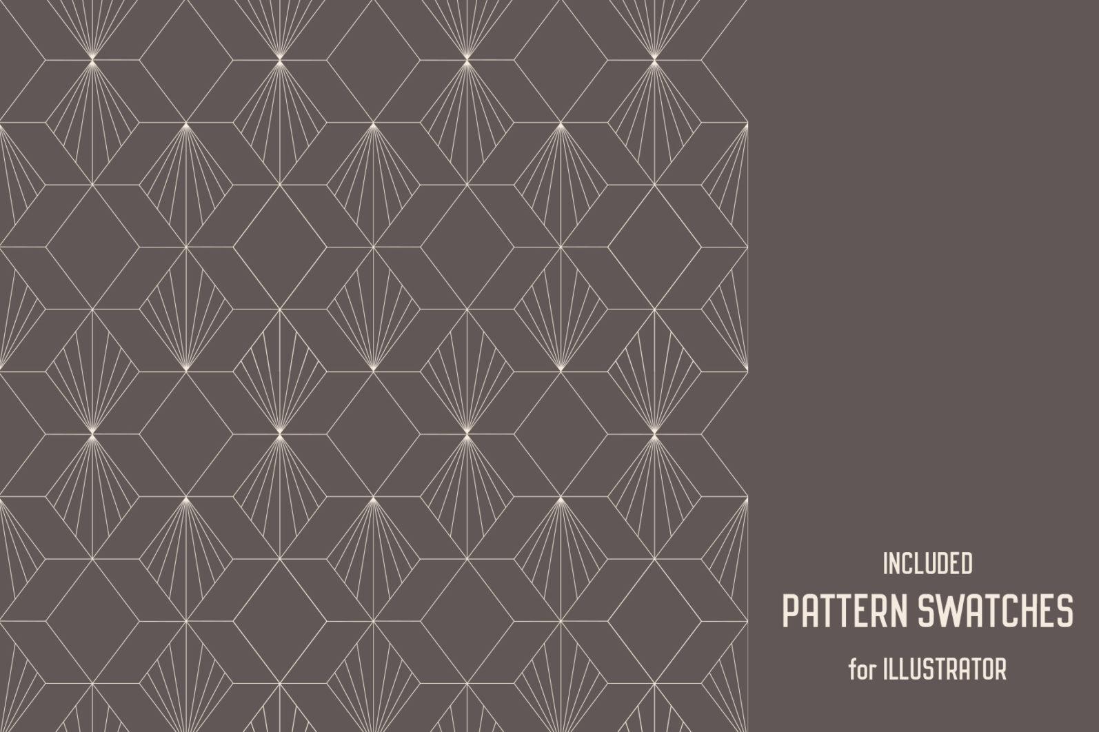 Geometric Art Deco Seamless Patterns - art deco 3 -